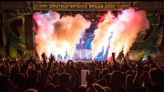David Guetta beim SPUTNIK SPRING BREAK 2014