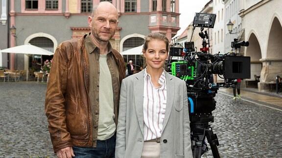 Yvonne Catterfeld und Götz Schubert