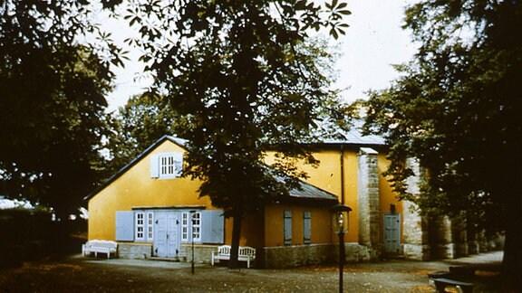 Außenansicht des Goethe-Theaters Bad Lauchstädt.