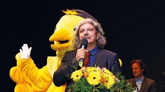 """Regisseur und Autor Nino Jacusso beim Kinder-Medien-Festival """"Goldener Spatz"""" 2015 in Erfurt"""
