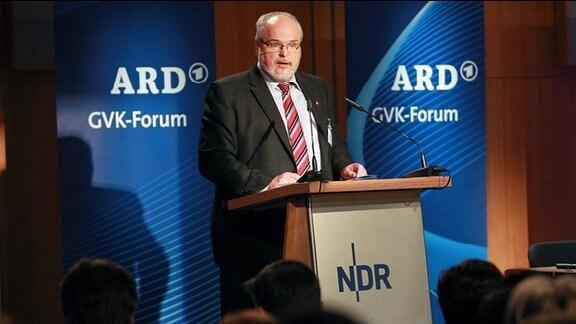 Uwe Grund (Vorsitzender der Gremienvorsitzendenkonferenz) bei einem GVK-Forum in Hamburg