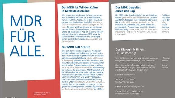 Deckblatt des Flyers MDR für Alle