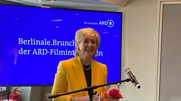 ARD-Filmintendantin Karola Wille begrüßt zum Berlinale.Brunch 2020