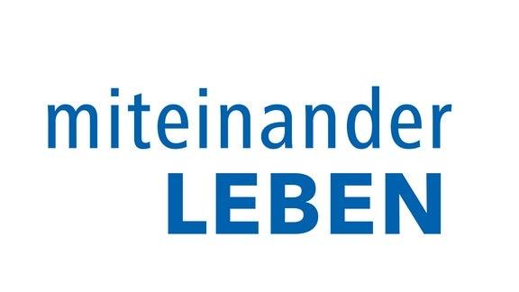 """Logo des MDR-Mottos 2020 """"Miteinander leben"""""""