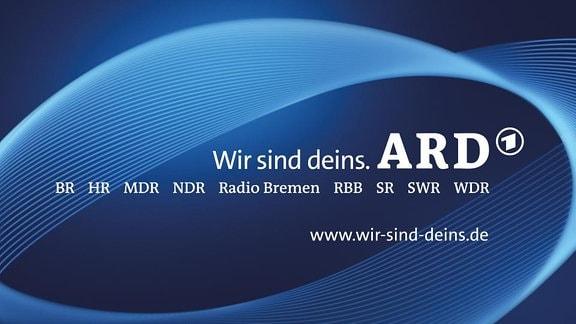 """ARD-Logo der Public Value-Aktion """"Wir sind deins."""""""
