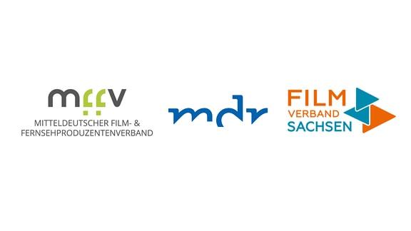 Logos MffV, MDR, Filmverband Sachsen