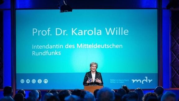 """MDR-Intendantin Karola Wille beim Jahresauftakt """"Miteinander leben"""""""