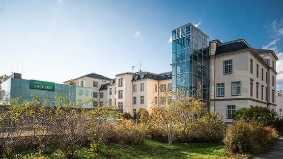Ansicht des MDR Landesfunkhauses Sachsen in Dresden