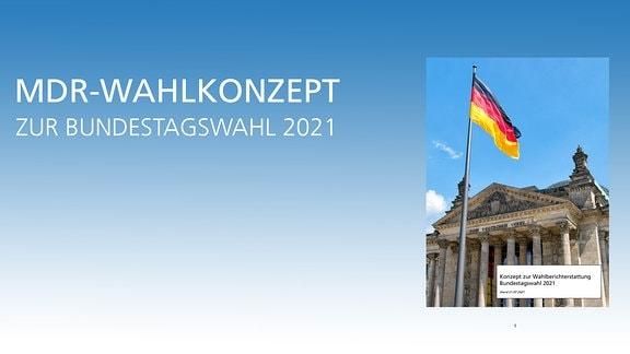 Konzept der MDR-Wahlberichterstattung zur Bundestagswahl 2021