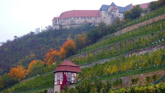 Das Schloss Neuenburg ist das Wahrzeichen von Freyburg