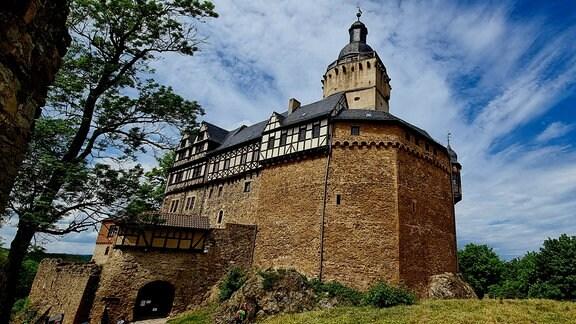 """Postkarten-Aktion von """"Unterwegs"""": Burg Falkenstein im Selketal"""