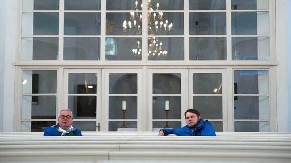 Andreas Neugeboren und Pfarrer Martin Weber aus Allstedt