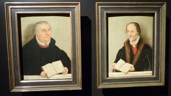 Martin Luther und Philipp Melanchton werden häufig in Cranachs Werkstatt gemalt.