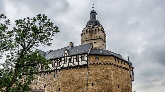 Blick auf Burg Falkenstein.