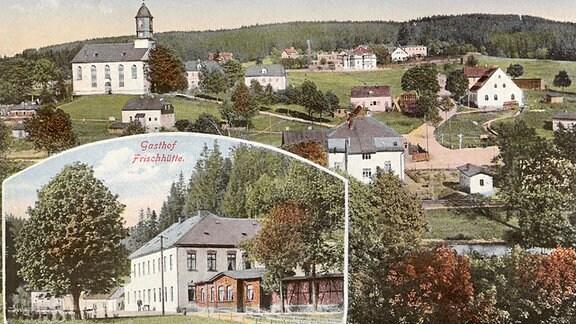 Alte Postkarte Ansicht Morgenröthe-Rautenkranz.