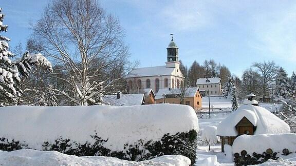 Morgenröthe Rautenkranz im Schnee.
