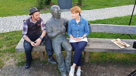 Dieses Denkmal in Zwickau, Alex Huth und Beate Werner