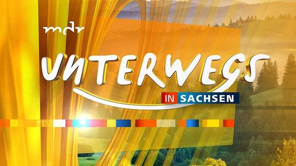 Unterwegs in Sachsen - Logo