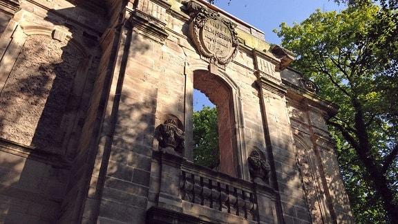 Die Ruine der Kirche des alten Benediktiner-Klosters Gerode.
