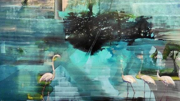 """Open Air"", 2018, Acryl von Sylvia Perlet-Pfefferkorn, Künstlerin aus Leipzig"