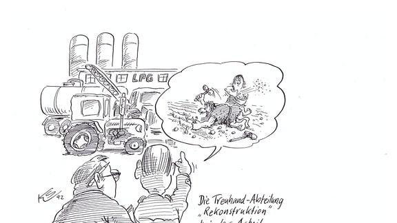 """Karikaturen """"Wem gehört der Osten?"""""""