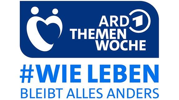 Logo der ARD Themenwoche 2020. Schrift: ARD Themenwoche #wieleben. Bleibt alles anders.