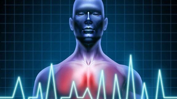 Symbolgrafik: Herzfrequenz