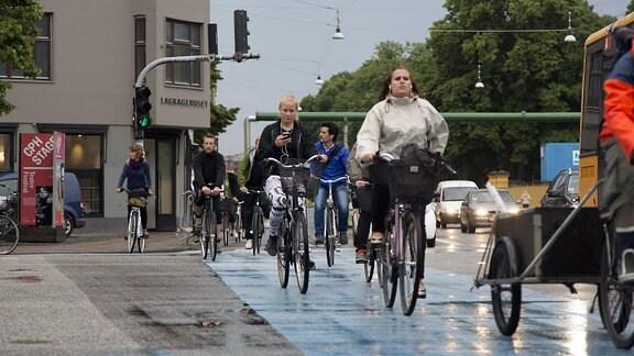 Radweg in Kopenhagen