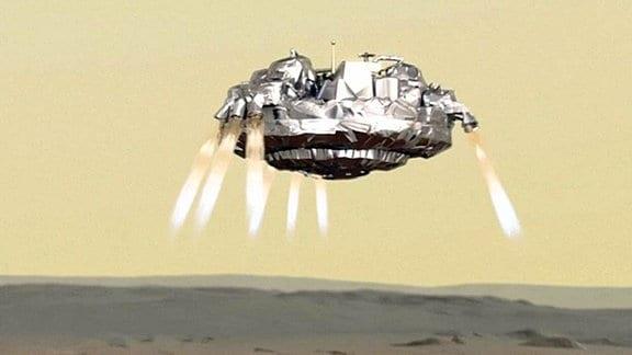 Computergrafik der Marssonde Schiaparelli.