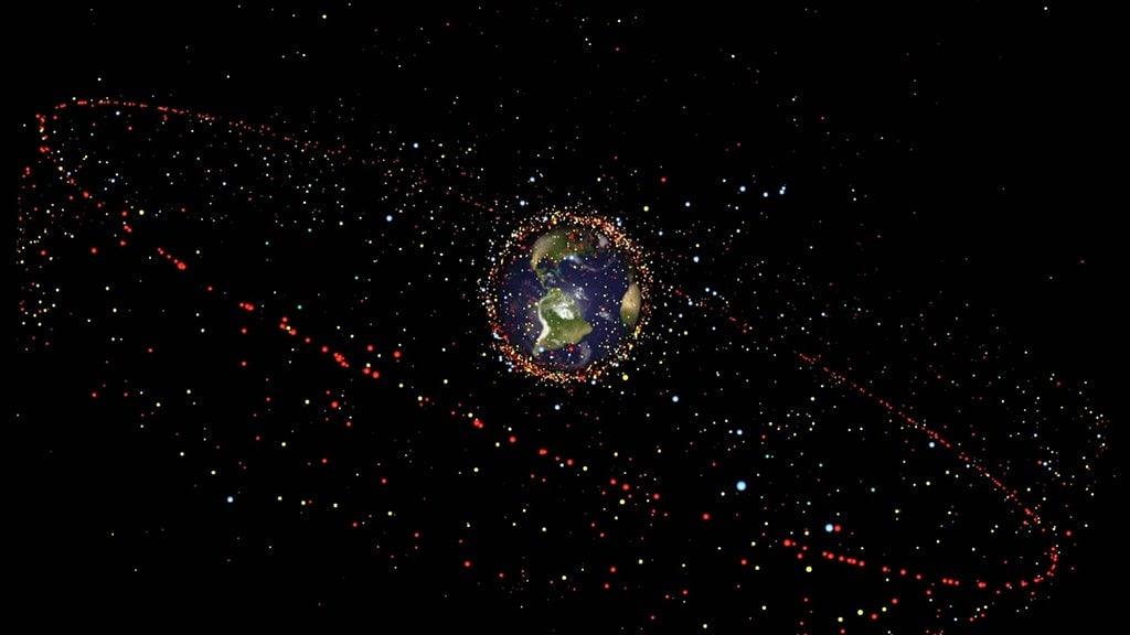 Satelliten Kette Am Himmel Heute