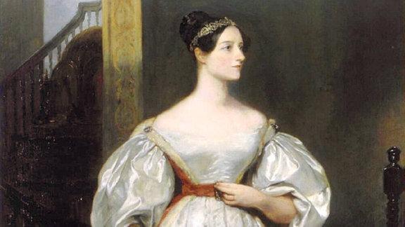 Ada Lovelace, 1836. Gemälde von Margaret Carpenter