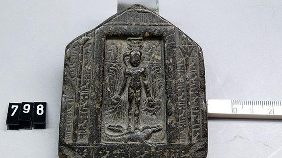 Horus-Stele, Ägyptisches Museum Leipzig Sonderausstellung 2017