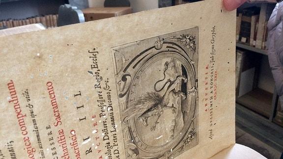 Wie ein Schweizer Käse: So sieht ein Buch aus, das von Brotkäfern beschädigt wurde.