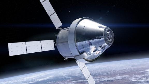 Visualisierung eines Raumschiffs.