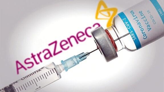 Bildmontage - AstraZeneca Impfstoff Corona