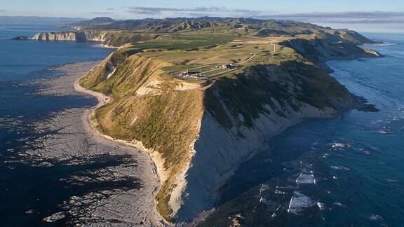Der Launch Complex 1 vom privaten Raumfahrtunternehmen Rocket Lab aus Neuseeland.