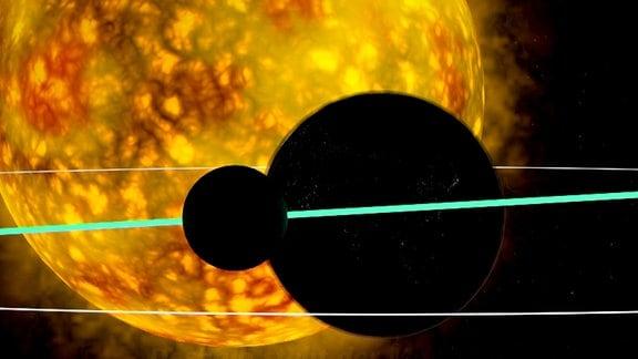 Animation der totalen Sonnenfinsternis