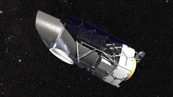Künstlerische Darstellung des geplanten NASA-Weltraumteleskops WFIRST Wide Field Infrared Survey Telescope