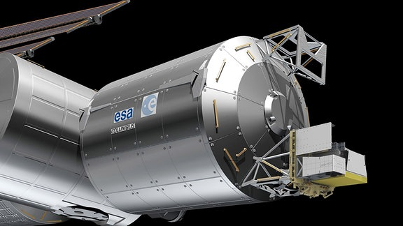 """Atmosphere-Space Interactions Monitor"""" (ASIM) am Columbus-Modul der ISS"""