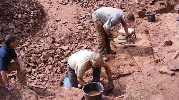 Ausgrabungsstätte Bromacker in Thüringen