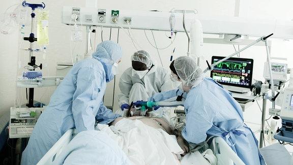 Beatmung eines Covid-Patient
