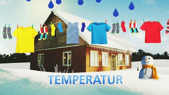 Bissen Wissen: Wäsche im Winter trocknen