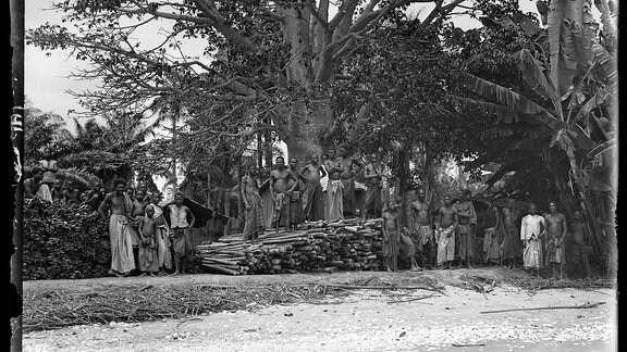 Arbeiter auf der Faktorei Mallela im Congo