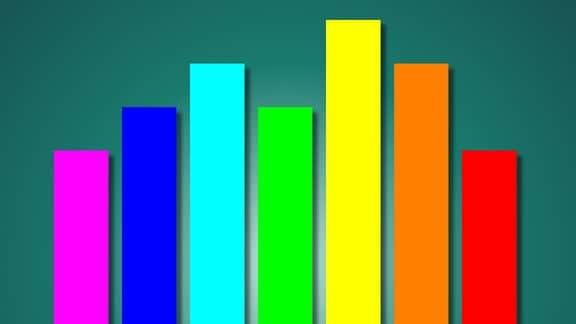 Balken in Regenbogenfarben