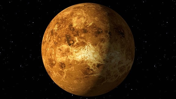 Planet Venus als Computergrafik mit NASA-Texturen