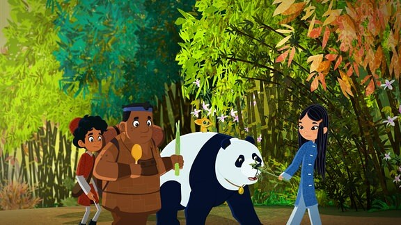 Shila lockt Panda