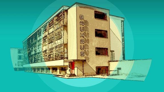Zeichnung vom Bauhaus