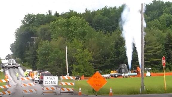 Blowdown von Methan-Gas aus einer Pipeline