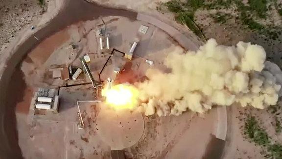 Der erste bemannte Flug von Blue Origin.
