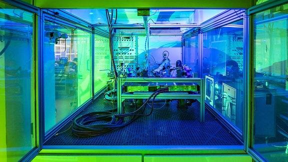 Innenraum Brennstoffzellen-Prüfstand